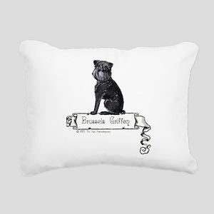 banner black griffie Rectangular Canvas Pillow