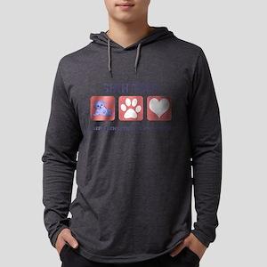 FIN-shih-tzu-pawprints Mens Hooded Shirt