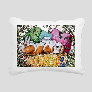 Corgi Cottage Chic Rectangular Canvas Pillow