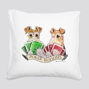 Poker 13x10buddies Square Canvas Pillow