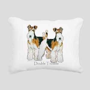 Double Trouble 11x11 Rectangular Canvas Pillow