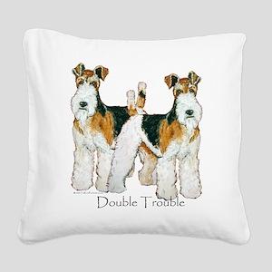 Double Trouble 11x11 Square Canvas Pillow