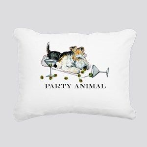 party animal 2 Rectangular Canvas Pillow