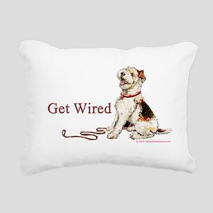 1 get wired Rectangular Canvas Pillow