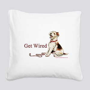 1 get wired Square Canvas Pillow