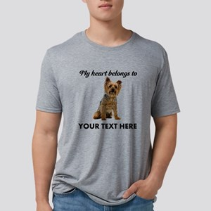 Personalized Silky Terrier Mens Tri-blend T-Shirt