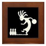 Kokopelli Bowler Framed Tile