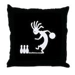 Kokopelli Bowler Throw Pillow