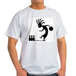 Kokopelli Bowler Ash Grey T-Shirt