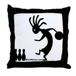 Kokopelli Bowler Throw Pillow