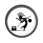 Kokopelli Bowler Wall Clock