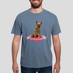 Silky Terrier Valentine Mens Comfort Colors Shirt