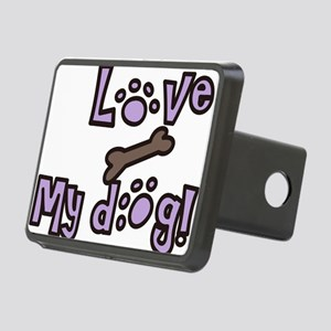 Love My Dog Rectangular Hitch Cover