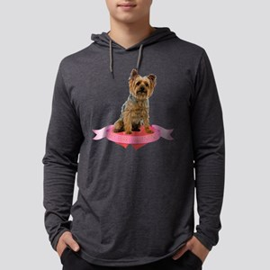 Silky Terrier Valentine Mens Hooded Shirt