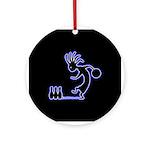 Kokopelli Bowler Ornament (Round)