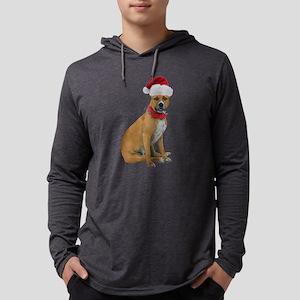 Staffie Christmas Mens Hooded Shirt