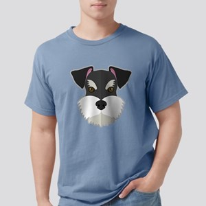 Cartoon Schnauzer Mens Comfort Colors Shirt