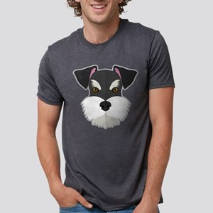 Cartoon Schnauzer Mens Tri-blend T-Shirt