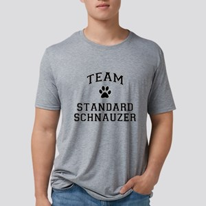 Team Standard Schnauzer Mens Tri-blend T-Shirt