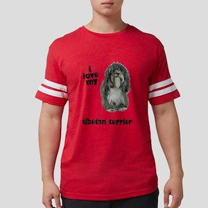 FIN-tibetan-terrier-love Mens Football Shirt