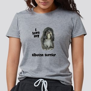 FIN-tibetan-terrier-love Womens Tri-blend T-Sh