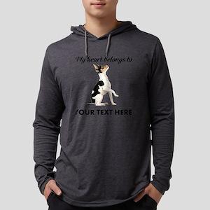 Custom Toy Fox Terrier Mens Hooded Shirt