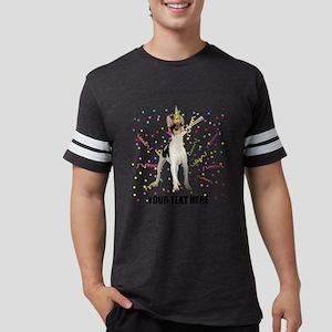 Custom Toy Fox Terrier Mens Football Shirt