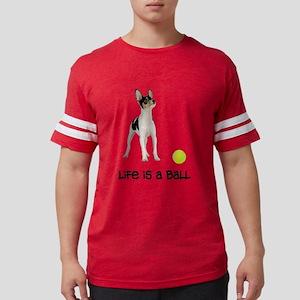 FIN-toy-fox-terrier-life Mens Football Shirt