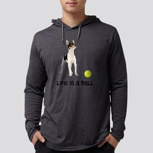 FIN-toy-fox-terrier-life Mens Hooded Shirt