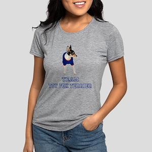 FIN-team-toy-fox-terrier Womens Tri-blend T-Sh