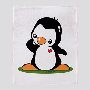 Cute Penguin Popo (!) Throw Blanket