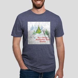 FIN-merrier-westie-christmas Mens Tri-blend T-
