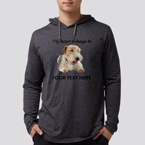 Custom Wire Fox Terrier Mens Hooded Shirt