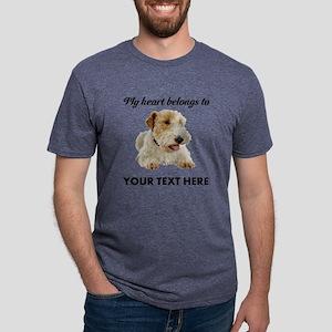 Custom Wire Fox Terrier Mens Tri-blend T-Shirt