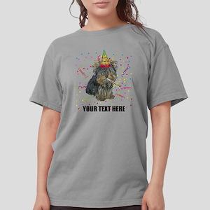 Custom Yorkie Birthday Womens Comfort Colors Shirt