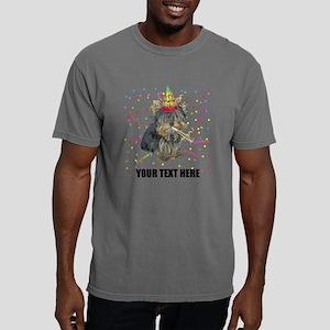 Custom Yorkie Birthday Mens Comfort Colors Shirt