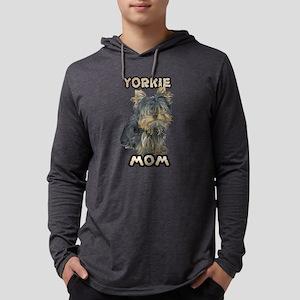 Yorkshire Terrier Mom Mens Hooded Shirt