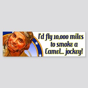 I'd fly 10,000 miles Bumper Sticker