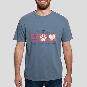 FIN-yorkies-pawprints Mens Comfort Colors Shir