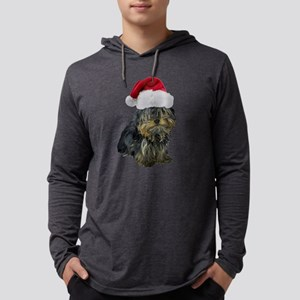 FIN-santa-yorkie-CROP Mens Hooded Shirt
