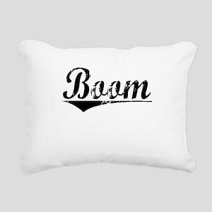 Boom, Aged, Rectangular Canvas Pillow