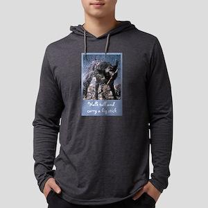 FIN-black-lab-big-stick Mens Hooded Shirt