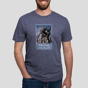 FIN-black-lab-big-stick Mens Tri-blend T-Shirt