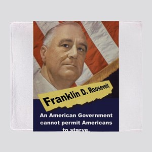An American Government - FDR Throw Blanket