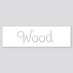 Wood Spark Bumper Sticker