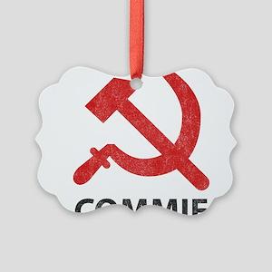 Vintage Commie Picture Ornament