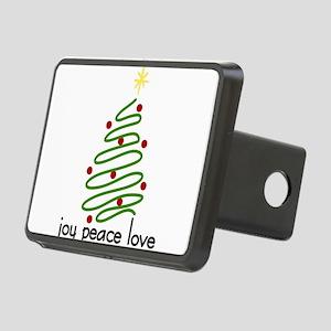 Joy Peace Love Rectangular Hitch Cover