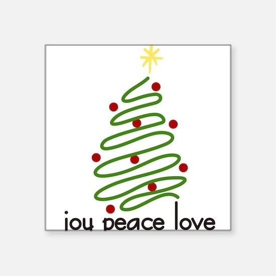 "Joy Peace Love Square Sticker 3"" x 3"""