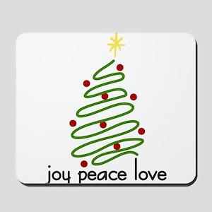 Joy Peace Love Mousepad