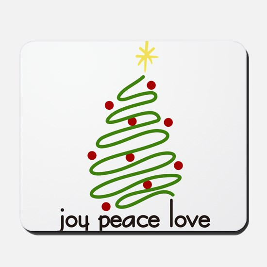 Joy Peace Love Mousepad